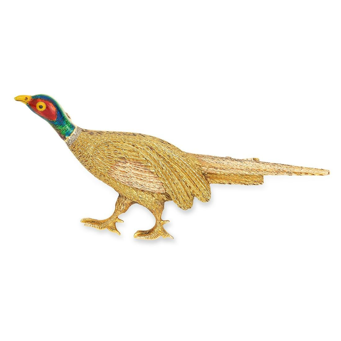 ANTIQUE PHEASANT BROOCH